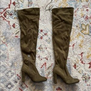 Wild Diva,Over The Knee, Olive Green, Size 8. New!
